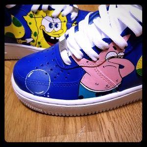 Womens Spongebob Nike Air Force Ones